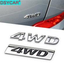 Dsycar 1 pçs moda 3d metal 4wd lado do carro fender tronco traseiro emblema emblema adesivo decalques para hyundai ix25 ix35 tucson estilo do carro
