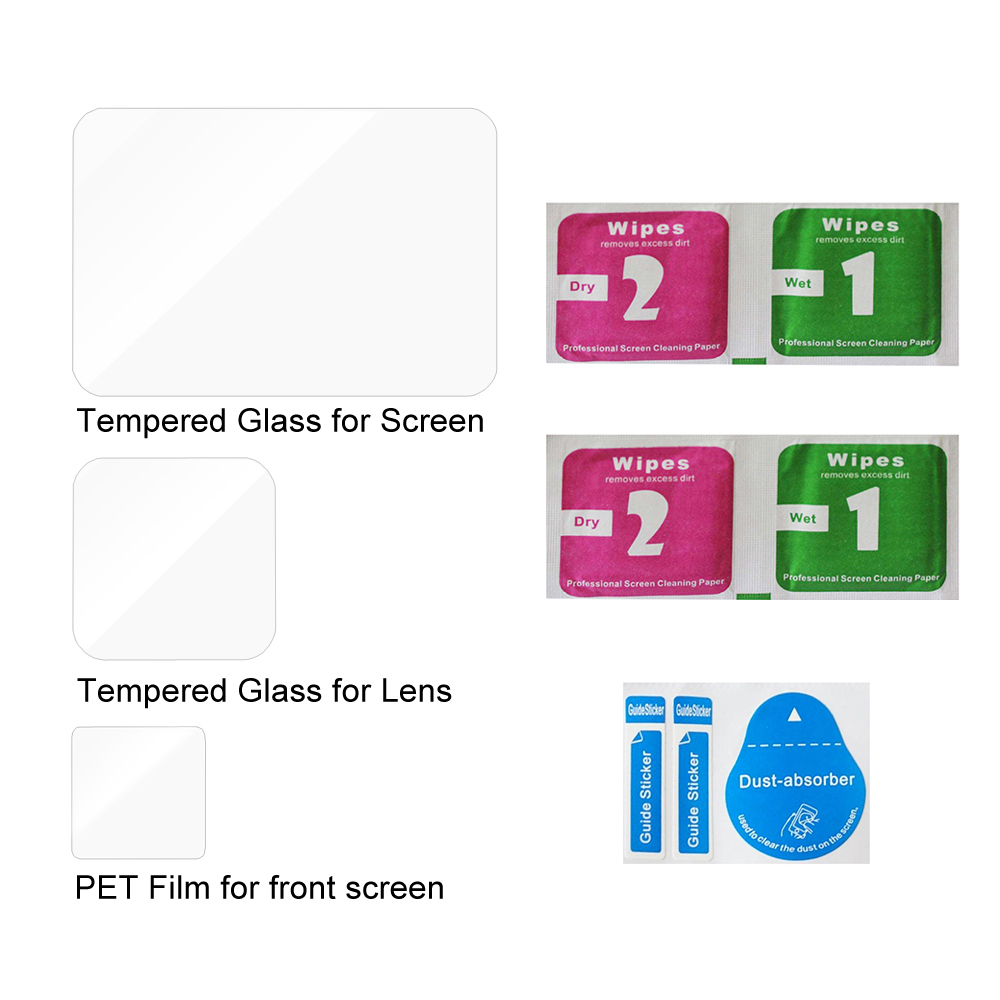 Tempered Glass Screen Protector for GoPro Hero 8 Black Lens Protection Protective Film for Gopro8 Go pro 8 Camera Accessories 5