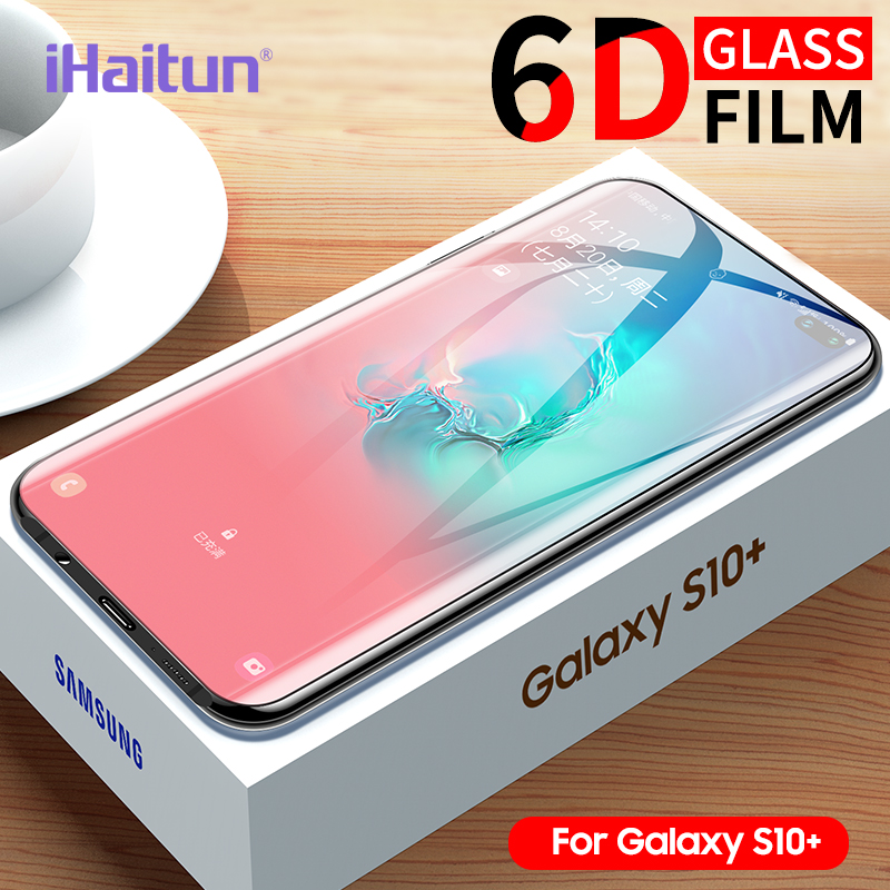 iHaitun 6D Glass For Samsung Galaxy S10 S10e S9 S8 Plus Full Curved Screen Protector For Samsung Note 10 Plus 9 8 Tempered Glass-in Phone Screen Protectors from Cellphones & Telecommunications
