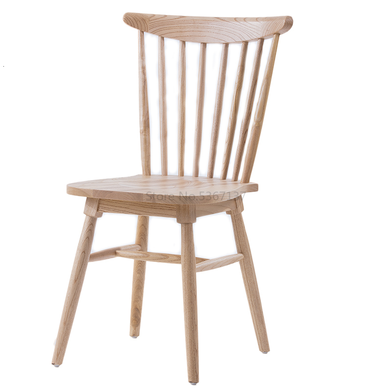 Solid Wood Chair Specials Home Log Simple Study Dining Room Chair American Retro Windsor Chair Nordic Chair