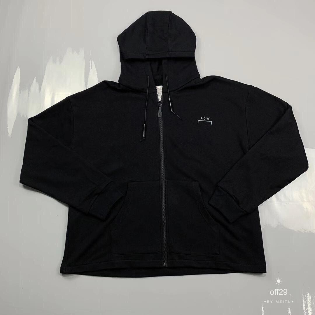Meilleure Version 1:1 a-cold-Wall ACW Logo imprimé Zip up femmes sweat-shirt à capuche pour hommes ACW hommes pull à capuche