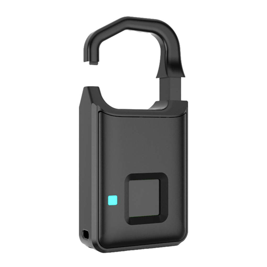 Fingerprint Lock USB Rechargeable Smart Keyless Anti-Theft Padlock Suitcase Door Lock Security Systems Lock