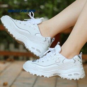 Image 5 - Skechers zapatos informales vulcanizados para mujer, zapatillas gruesas de plataforma, transpirables, 11979 WSL