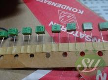 10 Uds verde WIMA FKP2 serie 0,00075 uF/100V 2.5% 5MM fkp 2 0.75nf 100v 750pf 751 nuevo de Condensador de película, 751/100v 750