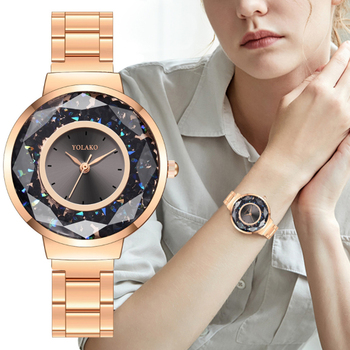 цена на Women Watch Fashion Luxury Quartz Watches Stainless Steel Dial Casual Rose Gold WristWatch Ladies Simple Dress Clock reloj mujer