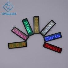 Программируемый светодиодный значок прокрутка светодиодный цифровой дисплей 7 цветов мини-светодиодный дисплей для вечерние мероприятия, мероприятия, отеля, ресторана
