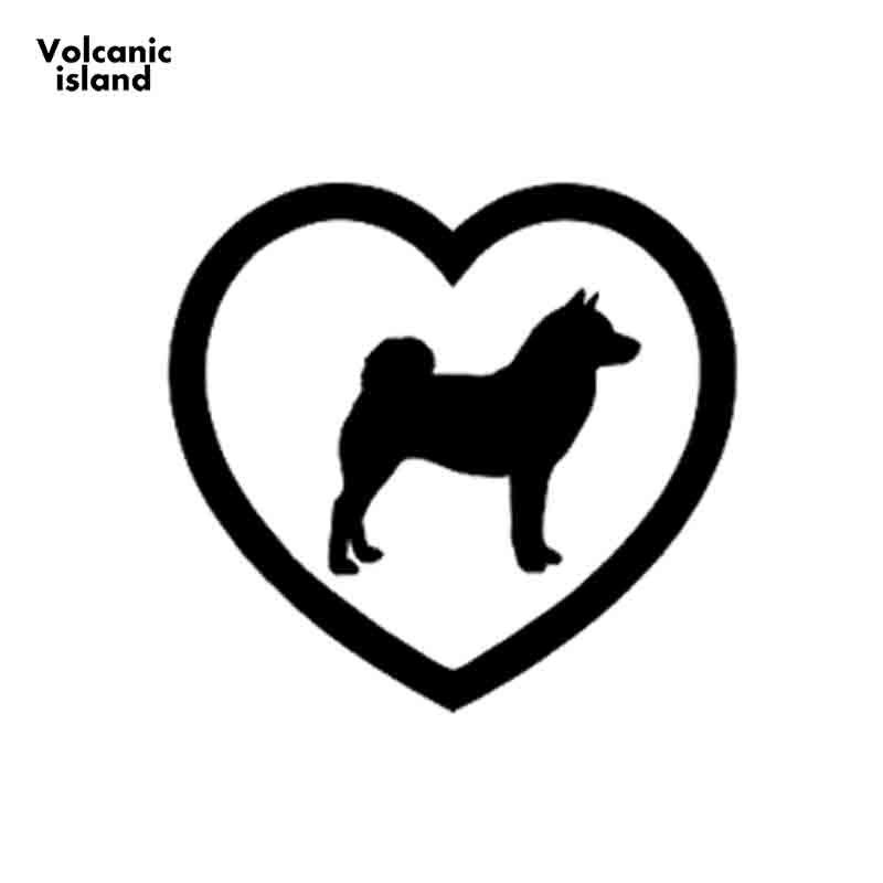 Vinyl Sticker Shiba Inu Dog Silhouette Heart Car Window Decal laptop wall