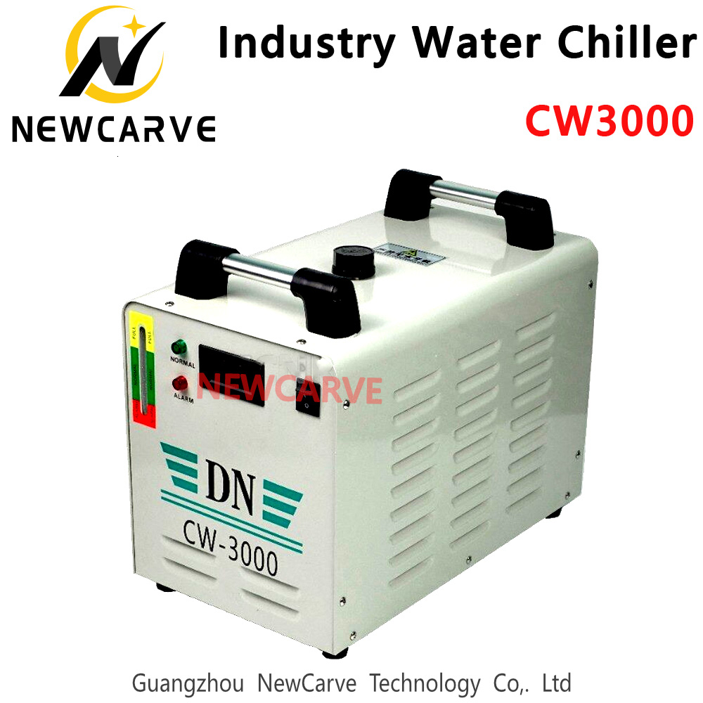 Water Cooling CW3000 Industry Chiller For CO2 Laser Machine Cooling 60W 80W Laser Tube NEWCARVE