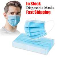 Disposable Face Mask 50/100 Pcs 3-Layer Protective Masks Safety Anti Smog Non Woven Anti-Dust Mouth-muffle antibacterial Masks
