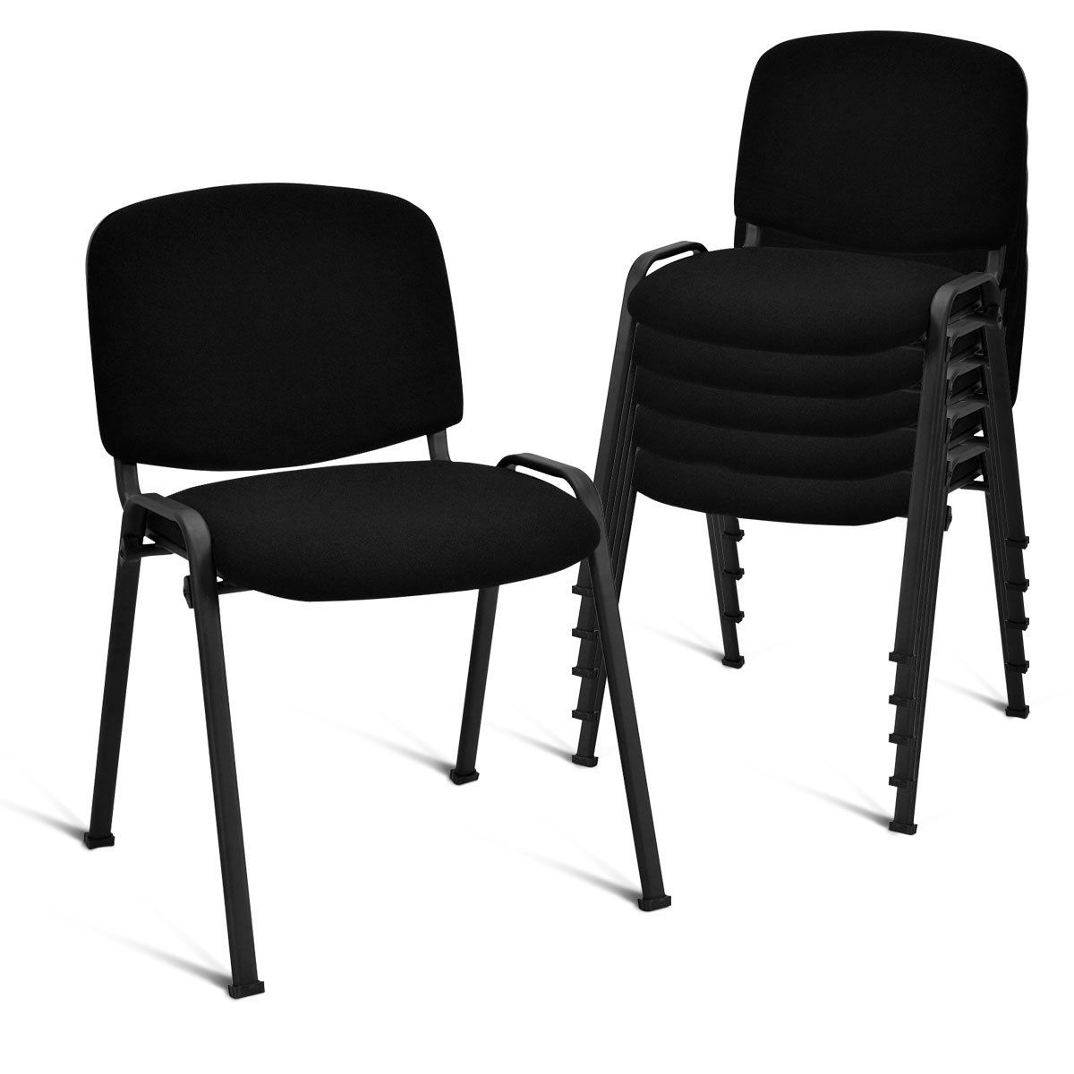 Costway Set Of 5 Conference Chair Elegant Design Office Waiting Room Guest Reception