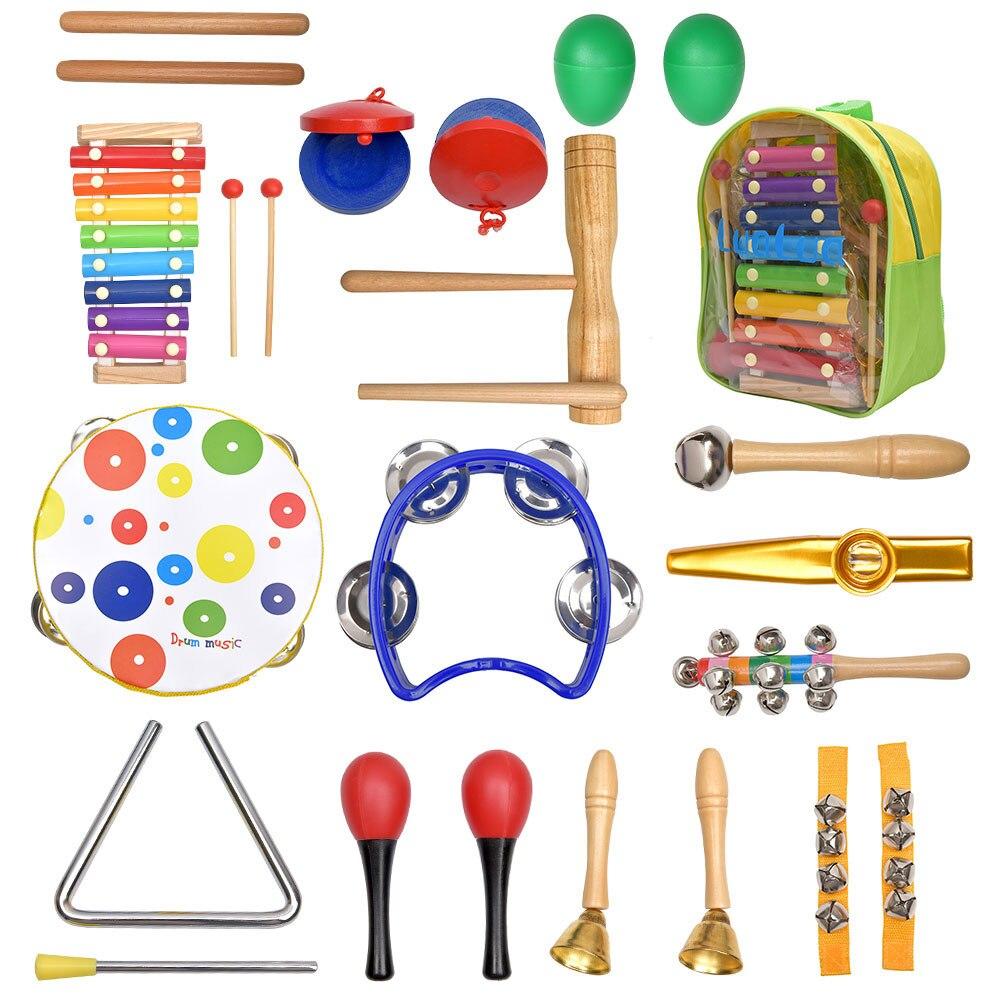 20 peças, brinquedos educacionais, conjunto de banda