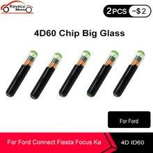 Keyecu 5 pçs/lote aftermarket 4d60 id60 vidro grande chip transponder para ford focus conectar fiesta ka mondeo