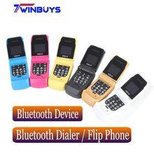 Smalleset LONG CZ J9 Flip cep telefonları kablosuz Bluetooth çevirici handsfree BT müzik FM radyo SOS mini çocuk çocuk cep telefonları