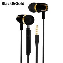 Wired Earphone Electroplating Bass Stereo In-ear Earphone with Mic Handsfree Call Phone