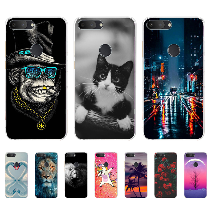 Case For Alcatel 1S Cases Silicon Cute Painted Phone Coque For Alcatel 1S 2019 5024D 5.5 Inch Covers Bumper Soft TPU Back Shell