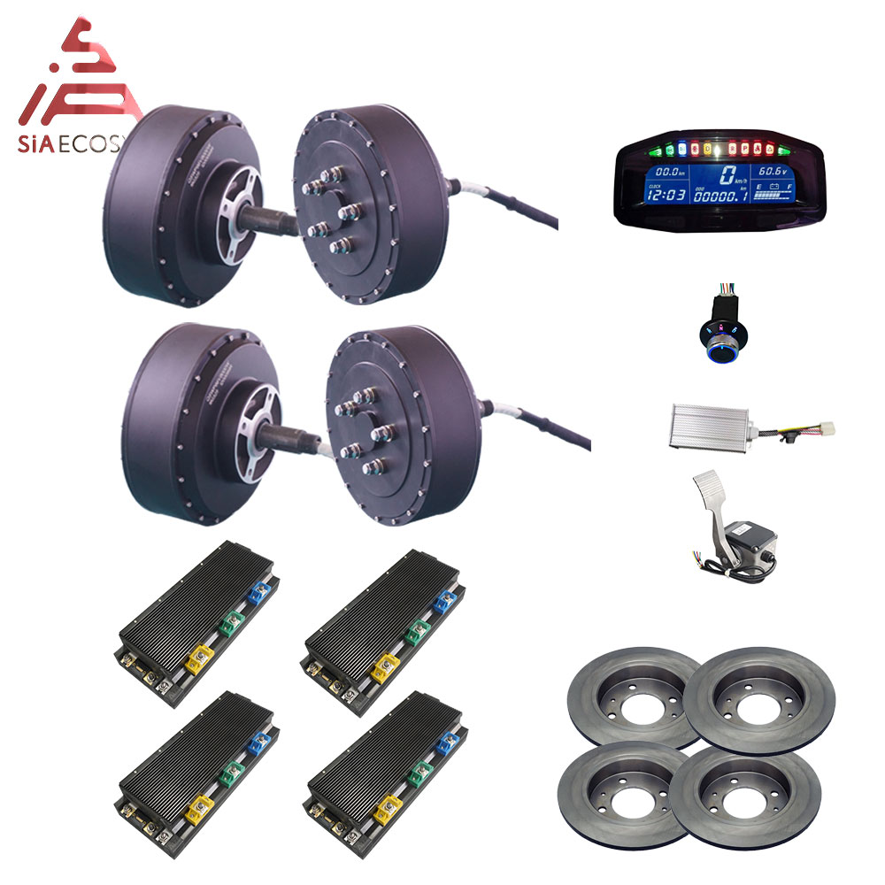 <font><b>QS</b></font> <font><b>Motor</b></font> <font><b>273</b></font> 8000W 4wd 96V 120kph BLDC brushless electric car hub <font><b>motor</b></font> conversion kits with APT96600 <font><b>motor</b></font> controller image