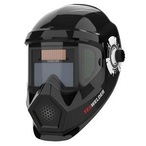 Yeswelder solar escurecimento automático capacete de soldagem verdadeira cor soldador lente anti nevoeiro máscara solda legal maior área visão para tig mig