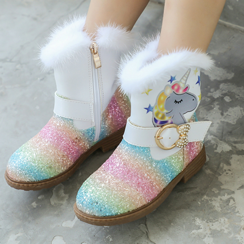 Winter Fashion Kids Boots Leather