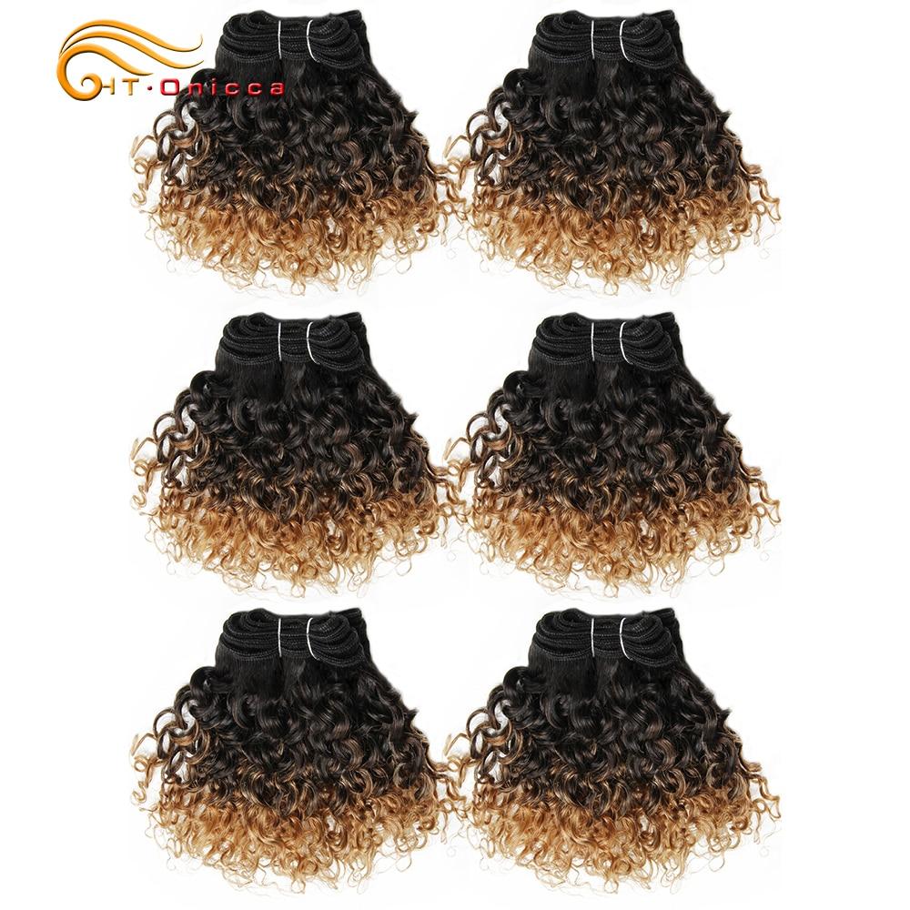 6 pçslote peruano encaracolado pacotes jerry curl