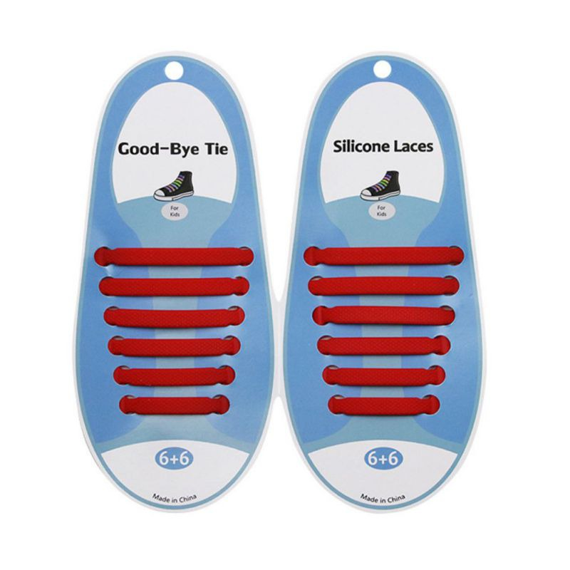 Infant Baby Shoes Ties 12PCS No Tie ShoeLaces For Kids Tieless Silicone Rubber Elastic Slip