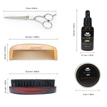 Newly Men Beard Care Grooming Trimming Kit Unscented Beard Conditioner Oil Mustache for Shaping Growth CTN88 3