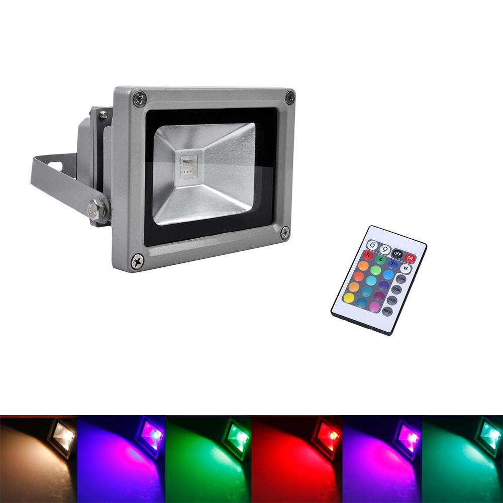 Light Remote-Control 10W RGB Flood for Outdoor Courtyard Lawn Landscape-Lamp Projection