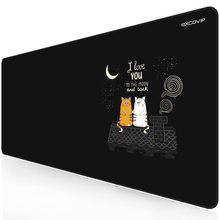 EXCO Couple Cats Mouse Pad Large Size 90x40 Water-Resistant Stitched Edge Mouse Mat Desk Mat Gaming Support for Computer Laptop