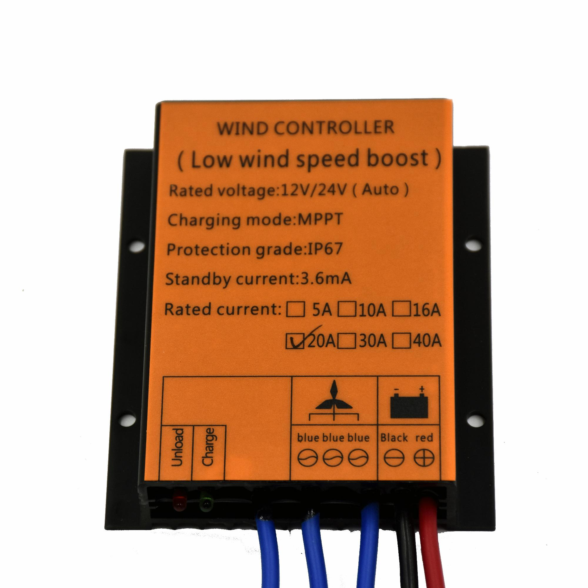 100W~720W 10A/16A/20A/30A MPPT/BOOST Wind Charge Controller For Wind Turbine Generator, 12V/24V Self-adaptive, Water Proof