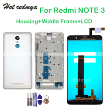 Full LCD Display For Xiaomi Redmi Note 3 Touch Screen Digitizer Assembly+Front Frame Bezel+Back Housing Battery Cover With Tools цена в Москве и Питере