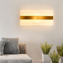 Kreatywny kształt krzywej akrylowe ściany światła 85 265V salon badania tle lampy nocne oświetlenie acrylic wall light wall lightbedside light -