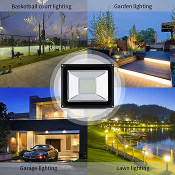200W 100W 50W 30W 20W LED Flood Light Cold/Warm White Floodlights Lamps 220V Outdoor Lighting For Street Square CE ROHS