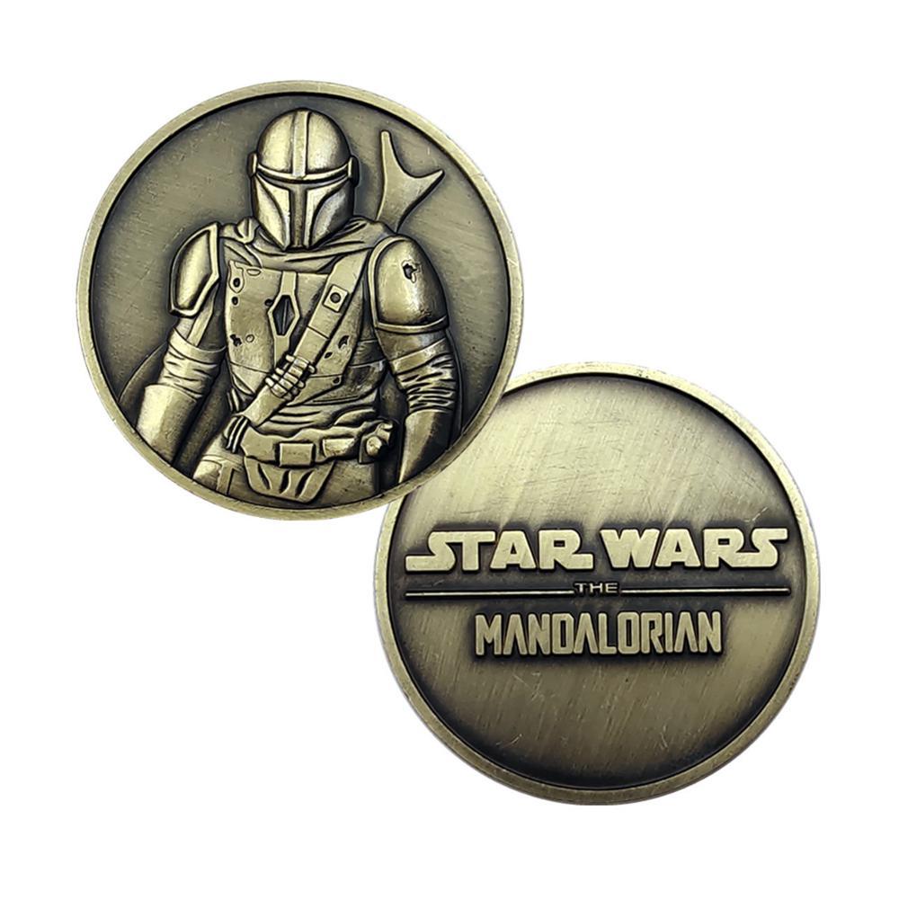 Крутые Звездные войны малыш йода собирать монеты один кусок аниме фигурки модели игрушки значок косплея металлические памятные подарки