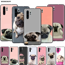 Webbedepp Animale Carino Pug Dog per Il Caso di Huawei P8 P9 P10 P20 P30 Lite Pro P Smart Z 2019 2019 mini(China)