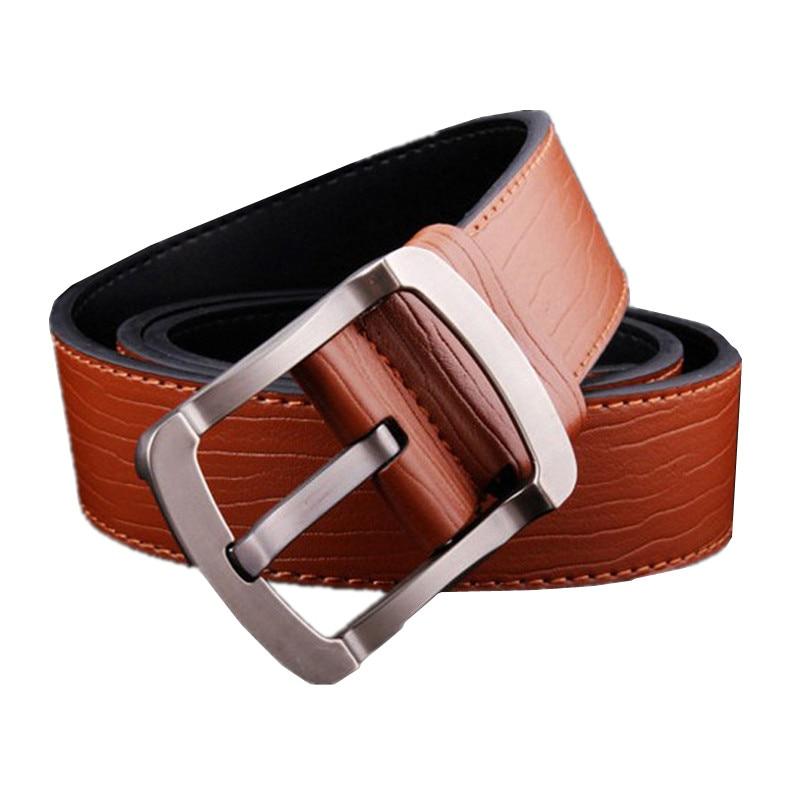 Yellow Belt Men Fashion Casual Men's Belts Black and brown cinturon 110cm