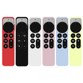 2021 silikonowa zdalna powłoka ochronna dla Apple TV 6 zdalna antypoślizgowa odporna na wstrząsy miękkie etui pokrywa zdalna obudowa ochronna tanie i dobre opinie Sunydeal NONE CN (pochodzenie) Protector Case for Apple TV6 remote control