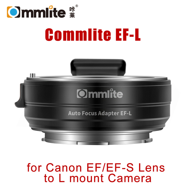 Commlite EF L AF Lens Adapter for Canon EF EF S SIGMA Lens to Leica Panasonic L mount Camera Auto Focus Lens Adapter Ring