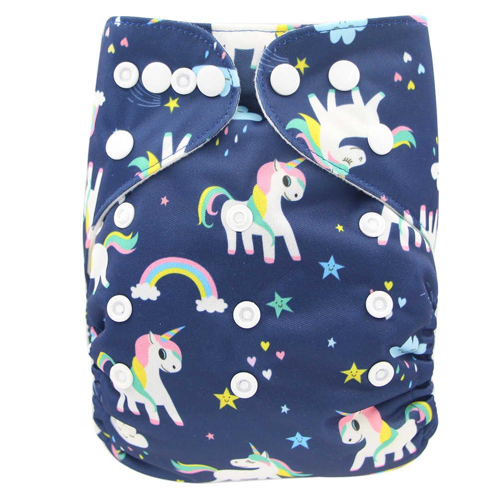 Ohbabyka bebê pano fraldas reutilizáveis fraldas personagem unisex bebê cuidado calças à prova dwaterproof água bolso pano fralda do chuveiro presentes