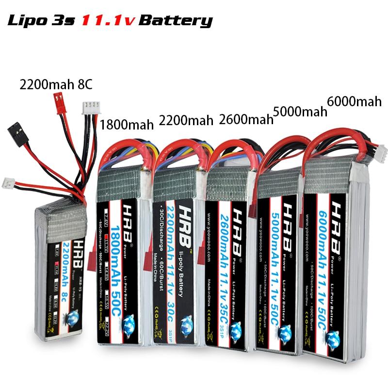 Image 3 - HRB Lipo 2S 7.4V 3S 11.1V 5000mah 4S 14.8V 6S 22.2V Battery 1800mah 2200mah 2600mah 3300mah 4200mah 6000mah 1/10 Car Hubsan H501-in Parts & Accessories from Toys & Hobbies