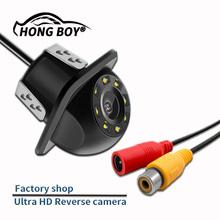 Darmowa wysyłka HongBoy Car mały słomkowy kapelusz kamera tylna 8 widzenie nocne LED cofania automatyczny Parking CCD 170 stopni tanie tanio CN (pochodzenie) STAINLESS STEEL Plastikowe + Szkło Drutu Tył