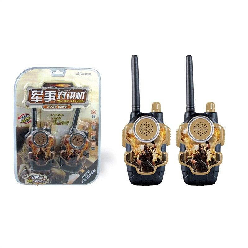 2pcs Walkie Talkie Kids Radio Station Two-way Flashlight Communicator Christmas Gift Watches Walkie-Talkie Parent-child Toys