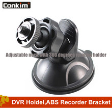 Conkim Quality 360Degree Rotating Suction Cup Car Holder For Dash Camera Screw Head Design Plastic Rubber Windshield GPS Holder(China)
