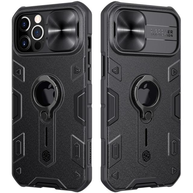 iPhone 12 Pro Max Case for iPhone 12 Mini Case with Ring stand Case Camera Protection Slide cover 1
