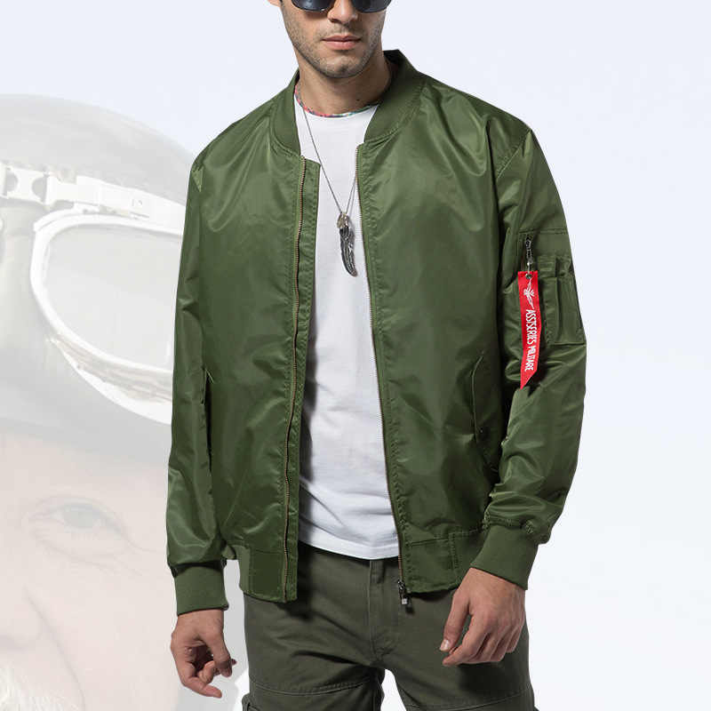 חדש Mens מזדמן מעיל צבא צבאי טיסה טייס מפציץ מעילי Mens אביב סתיו הלבשה עליונה צבאי מעיל גדול גודל 8xl JK103