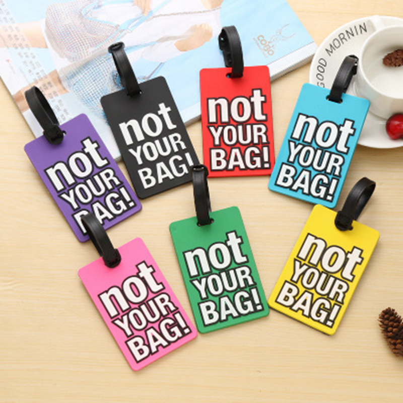 Fashion English Silica Gel Luggage Tag Alphabet Suitcase ID Address Holder Baggage Boarding Tag Portable Labe Travel Accessories