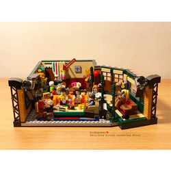 IN STOCK Classic TV American Drama Friends Central Perk Cafe Fit Legoinglys Friends Model Building Block Bricks 21319 Toy Gift
