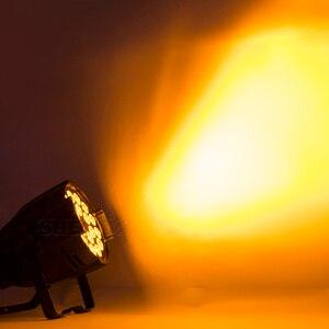 Image 2 - Alüminyum alaşımlı LED Par 18x18W RGBWA + UV 6in1 sahne aydınlatma LED spot DJ projektör yıkama aydınlatma düğün gösterisi parti ışıkları