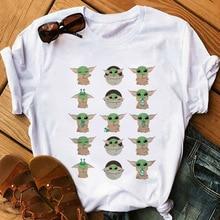 Baby Yoda Mandalorian T Shirt Women Harajuku T-shirt Satanist Moive Graphic Tees Women Tshi