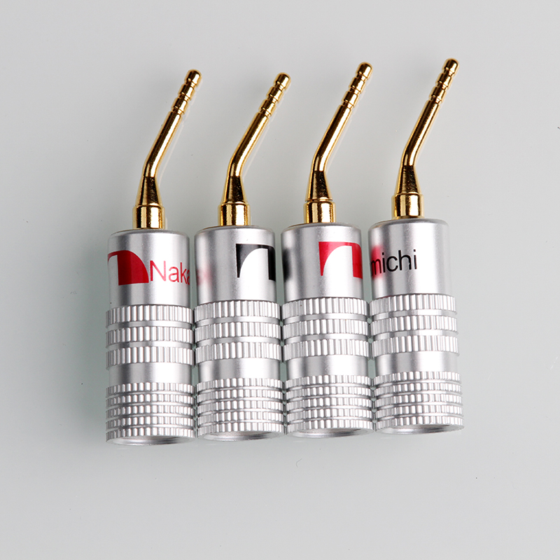 4PCS Nakamichi Gold-Plated Banana Plugs 4mm Banana Plug For Video Speaker Adapter Audio Wire Cable Connectors