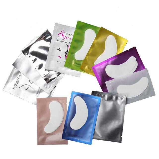 50 parches de papel para pestañas, almohadillas para ojos para pestañas parches de papel de extensión de pestañas pegatinas para puntas de ojos envolturas herramientas de maquillaje