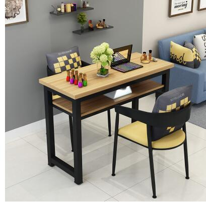 Маникюрный Стол и стул набор простой современный двойной черный маникюрный магазин стол специальная цена ретро Маникюрный Стол одиночный